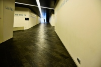 crossroads to the world: view inside Jewish Museum in Berlin
