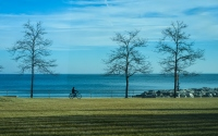 view of lake michigan: view of the lake michigan in milwaukee